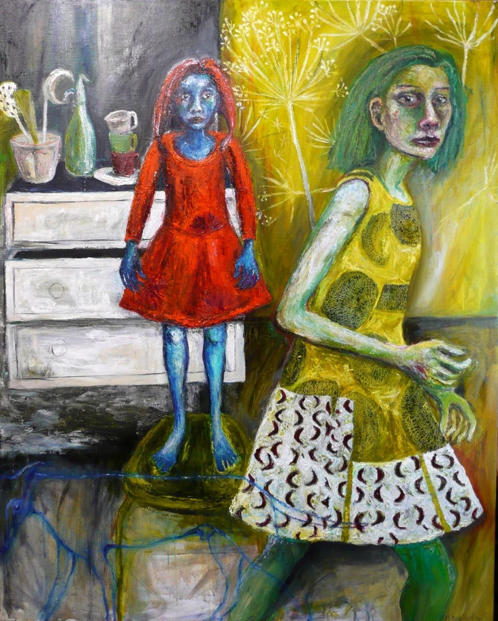 woman-blue-child-spirit-dog