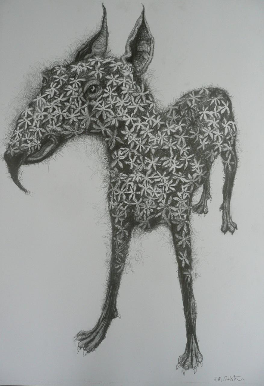 flowered-dog-creature