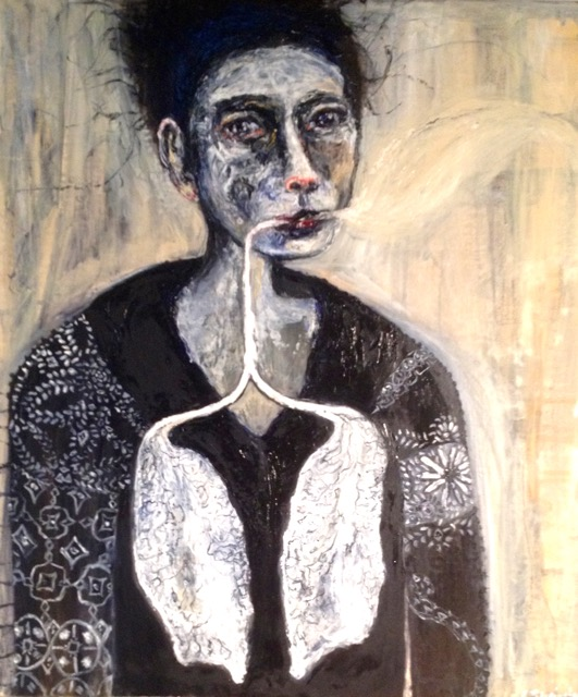 Woman with Lungs like Lace
